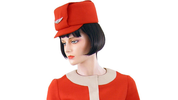 Uniforms like this one donned by United Airlines flight attendants in 1968 are among the most iconic ever made, says collector and aviation enthusiast Cliff Muskiet.
