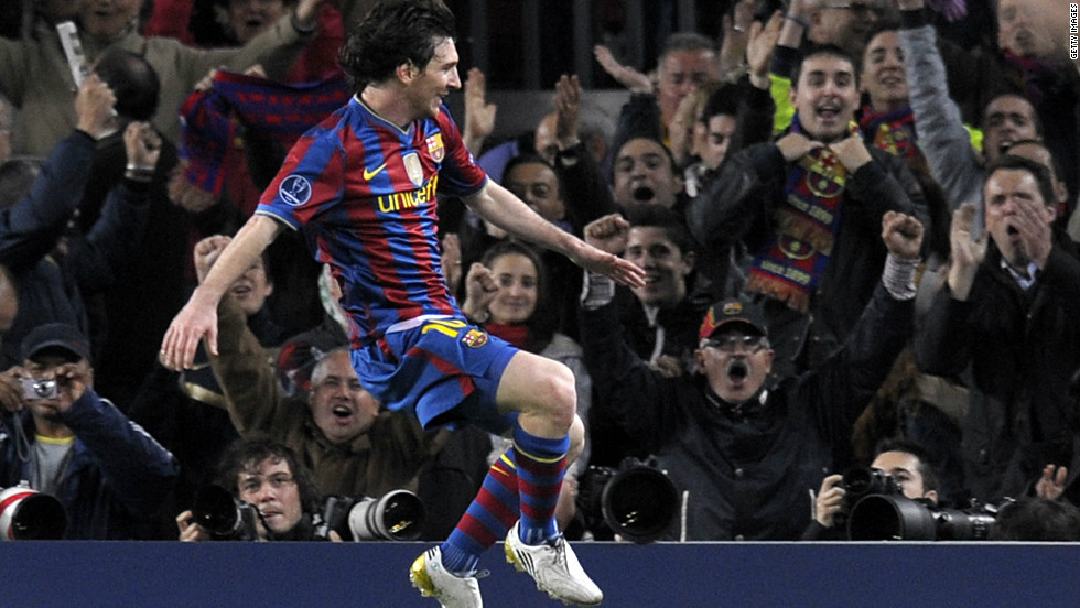 He scored four goals in a match for the first time in his career when Barca beat Arsenal 4-1 in the second leg of their Champions League last eight match in April 2010.
