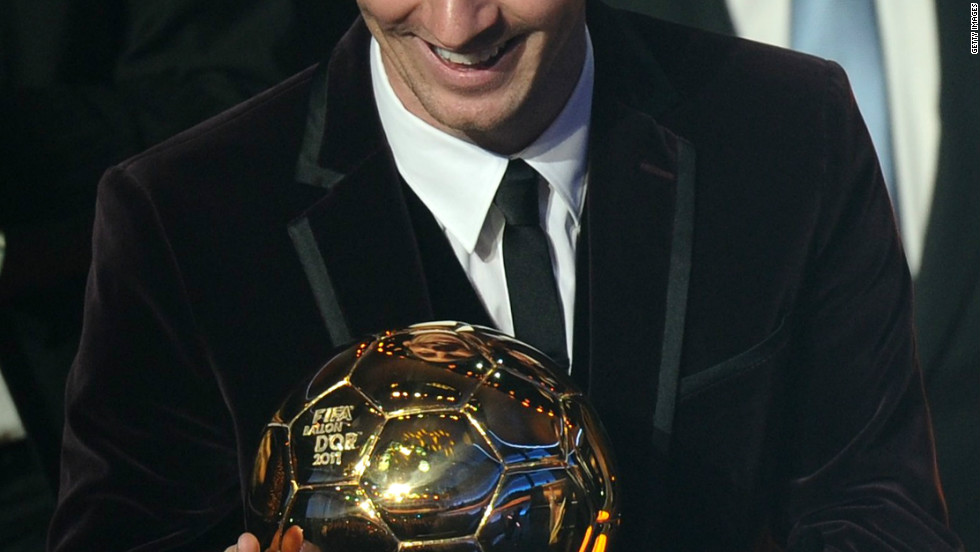 In January, Messi was crowned the FIFA Ballon d'Or winner for the third time in his career having also won the award for the world's best player in 2010 and 2011. No-one has ever won it four times.