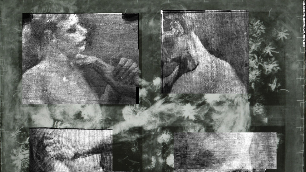 A new high-tech x-ray imaging technique revealed an underpainting of wrestlers, and details of the pigments used in the design, allowing experts to identify it as a Van Gogh work.