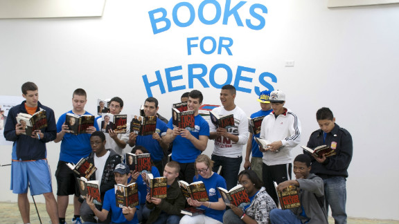 Patterson has donated thousands of books to the troops and strives to get kids involved.