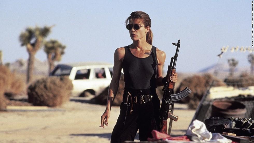 Linda Hamilton (pictured) was the best known Sarah, but Emilia Clarke took on the Terminator in the 2015 reboot.