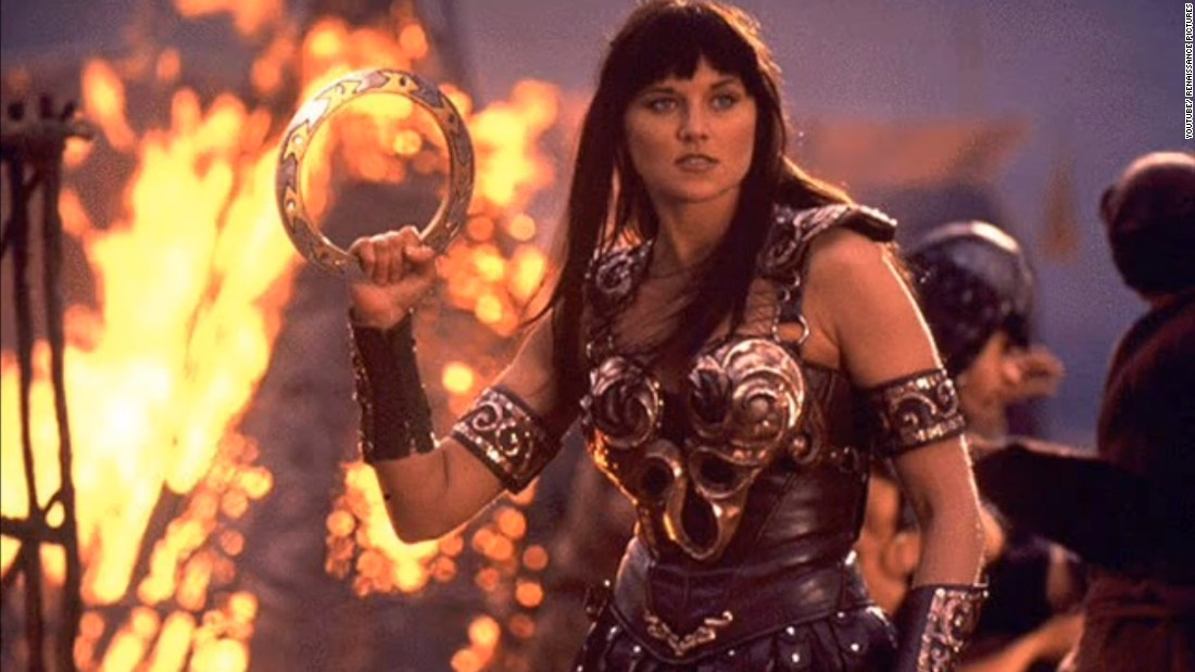 "Gwen Frederick, 54: ""'Xena: Warrior Princess' as played by Lucy Lawless. A woman on a redemptive mission who could 'out woman' and 'out man' anyone, all at the same time! The character inspired me to be fearless in my dreams and pursuits (I changed careers because of her) and to never give up in spite of obstacles or past mistakes."""