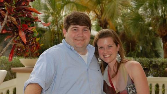 Jeff Romig with his wife, Kacy Goebel Romig, in 2009.
