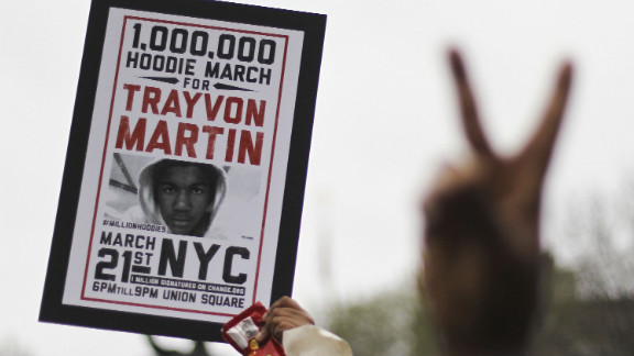 Supporters of Trayvon Martin rally in New York