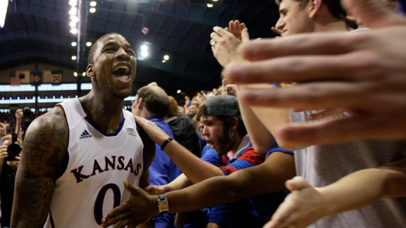 Thomas Robinson has found plenty of support on campus at Kansas.