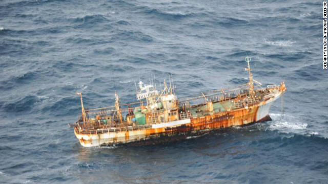 A Japanese fishing vessel that was believed to have been lost in the 2011 tsunami has been located near British Columbia.