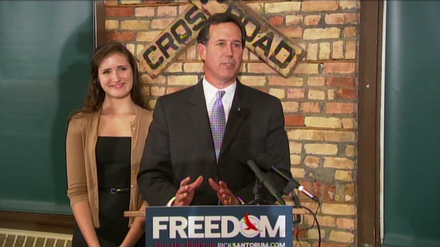 Santorum: 11th win like Ronald Reagan