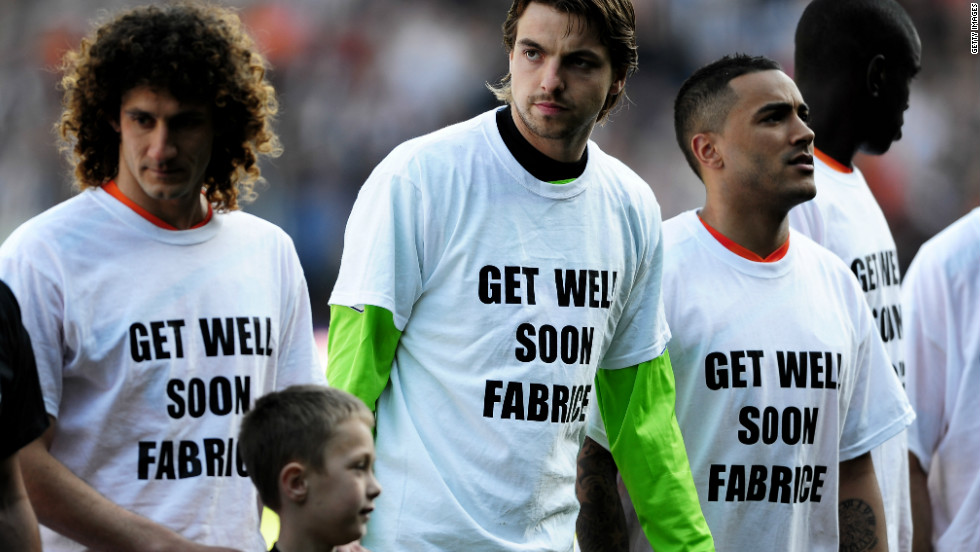 Newcastle United's players wore t-shirts supporting Muamba in the build-up to Sunday's win at West Bromwich Albion.