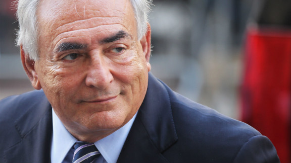Former IMF director Dominique Strauss-Kahn enters a Manhattan court on August 23, 2011, in New York City.