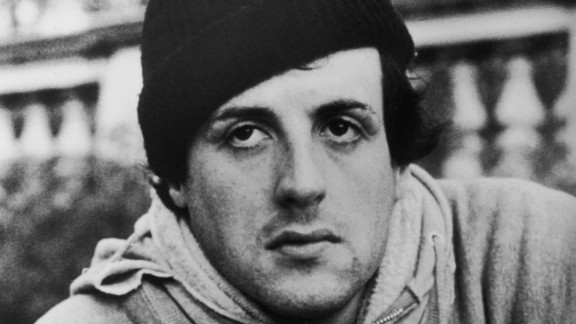 """Sylvester Stallone wears a hoodie in a still from the 1976 film """"Rocky."""""""
