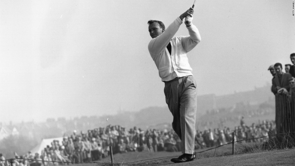 "Palmer was the most recognizable sportsman of his generation and he would be followed by legions of fans who were known as ""Arnie's Army."" His greatest year was 1962, when he won the Masters and the British Open, as well as topping both the PGA Tour money and scoring lists."