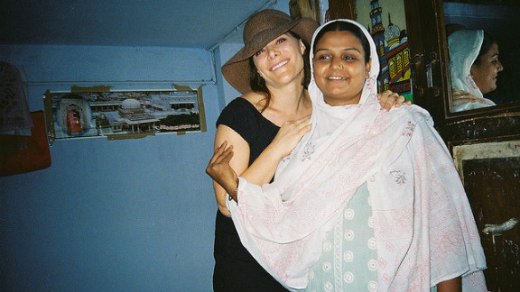 Adrienne Arieff and her surrogate, Vaina, who carried and gave birth to Arieff