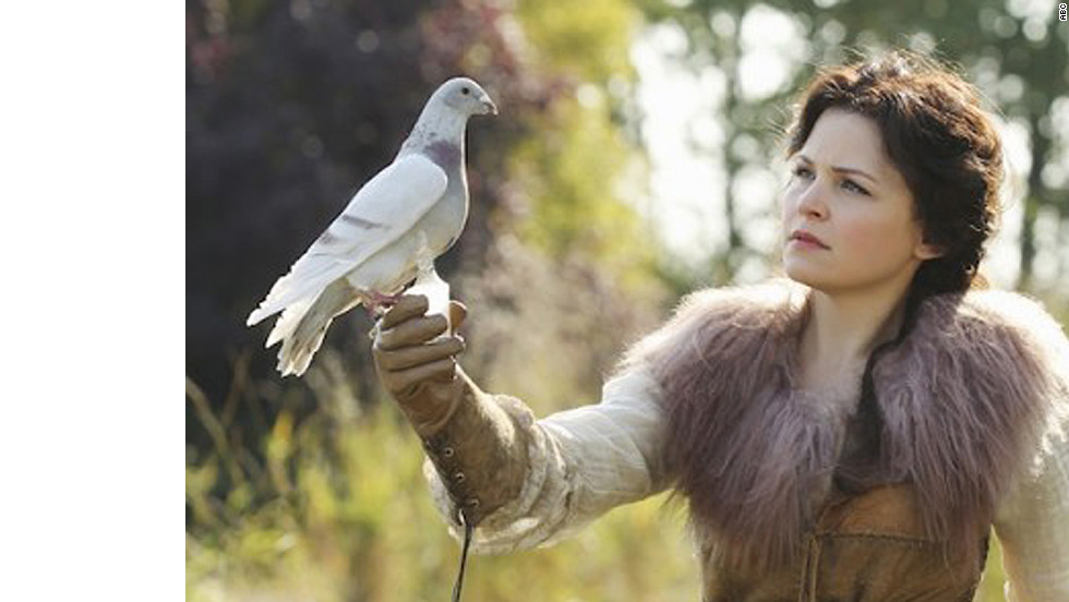 "Ginnifer Goodwin plays Snow White on ""Once Upon a Time."" Thanks to the Queen's curse, Goodwin's Snow White, along with the drama's other fairy tale characters, is plucked from her castle and forced to live in Storybrooke, Maine."