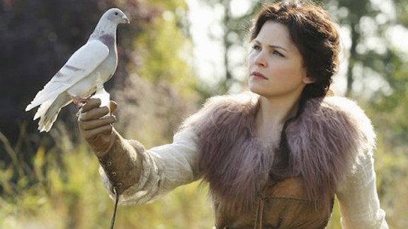 """Ginnifer Goodwin plays Snow White on """"Once Upon a Time."""" Thanks to the Queen's curse, Goodwin's Snow White, along with the drama's other fairy tale characters, is plucked from her castle and forced to live in Storybrooke, Maine."""