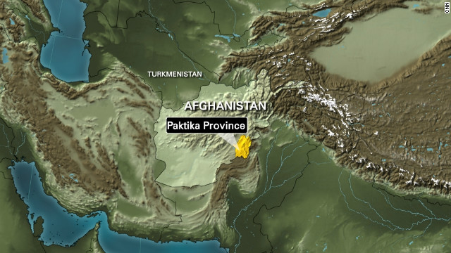 The incident took place in Afghanistan's Paktika province, authorities said.