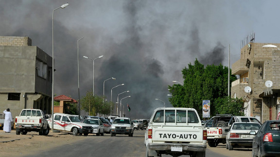 A street in Sabha, Libya, during clashes in 2012 between Toubou and Arab tribesmen.