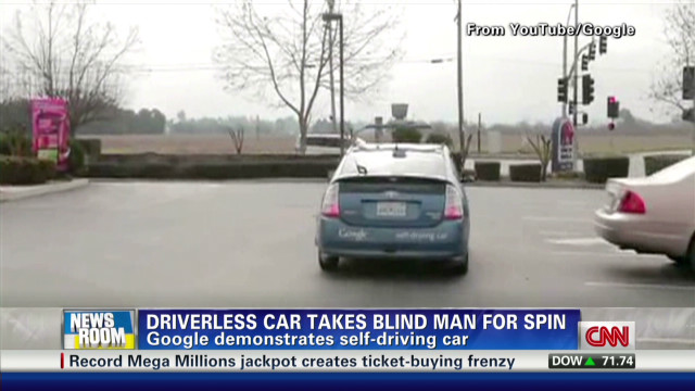 Driverless car takes blind man for spin
