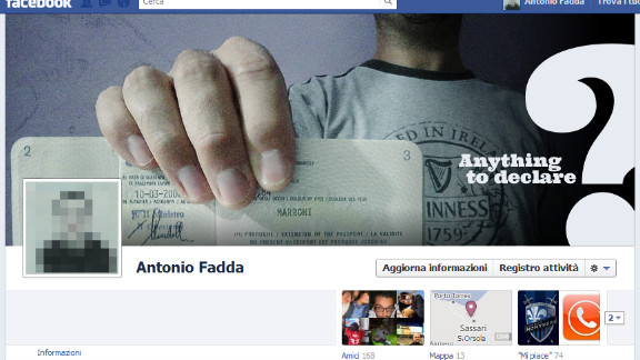 """I'm probably one of the few people who liked the Facebook Timeline immediately,"" says Antonio Fadda of Sassari, Italy. ""Sure, at first sight it may look confusing,  but it took me just a little to get used to it."" The new square profile picture made him think of a passport photo, he says, so that's the theme he used for his cover photo."