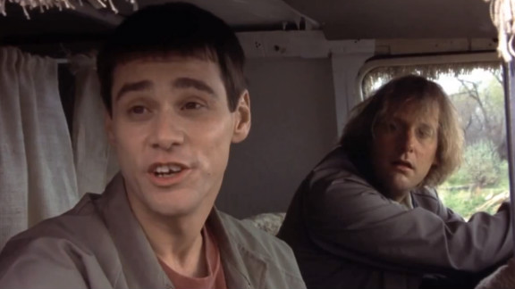 """A still from the 1994 movie """"Dumb and Dumber"""" with Jim Carrey (left) and Jeff Daniels."""