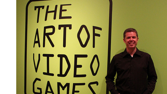 """Guest curator Chris Melissinos was the driving force behind the vision of """"The Art of Video Games"""" exhibit at the Smithsonian American Art Museum in Washington. """"This is not designed to be an exhaustive compendium of the history of games,"""" he said. """"It is an art exhibition."""""""