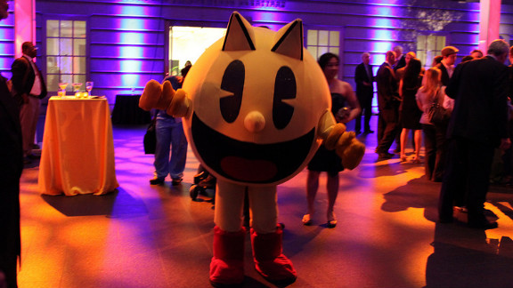 Pac-Man himself made an appearance during opening weekend. He looks pretty good for 32 years old, and he hasn't gained a pound eating all those pellets and ghosts!