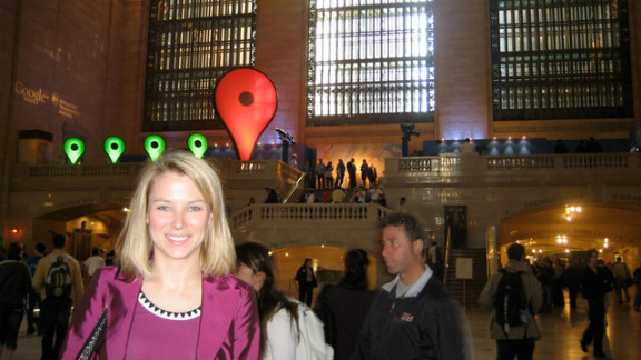 Mayer at the launch of Google Maps