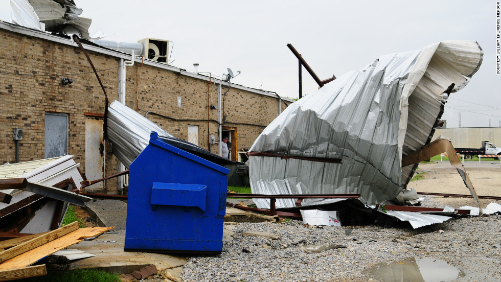 IReporter William Lawrence Meador captured the damage that the powerful storm left behind after it hit Grand Prairie, Texas.