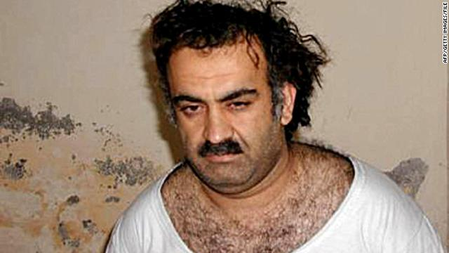This photo obtained on March 1, 2003 shows alleged plotter of the September 11, 2001 attack Khalid Sheikh Mohammed. The United States issued charges on April 4, 2012, against Khalid Sheikh Mohammed, along with four alleged plotters, setting the stage for a much-awaited military trial.
