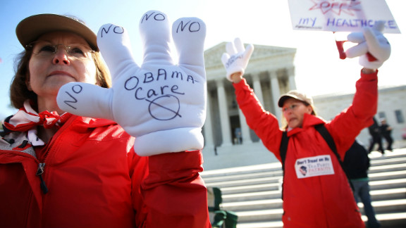 Tea Party members protesting President Obama