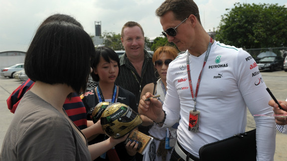 After retiring at the end of the 2006 season, Schumacher delighted his fans by making a surprise return to F1 in 2010. He was back to race for Mercedes at the age of 41.