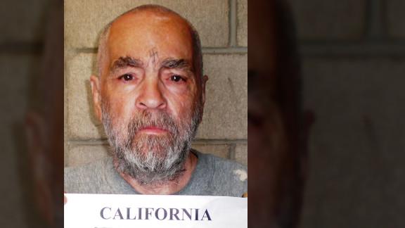 Manson's 2009 prison booking photo.