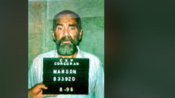 Manson's 1996 prison booking photo.