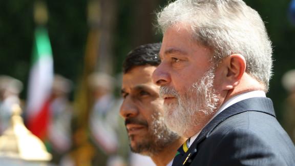 President Mahmoud Ahmadinejad welcomes Brazil