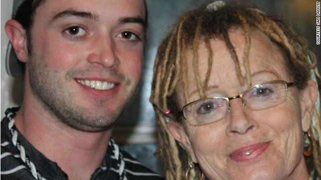 Sam Lamott, pictured with his mother, Anne, became a father earlier than anyone expected.