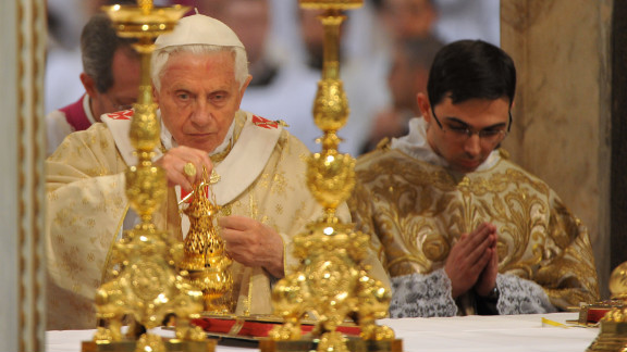 Pope Benedict XVI leads the Mass of the Lord