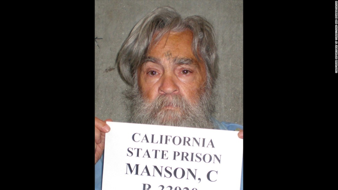 This image of Manson was taken in 2011. He served nine life terms in California prisons and was denied parole 12 times.