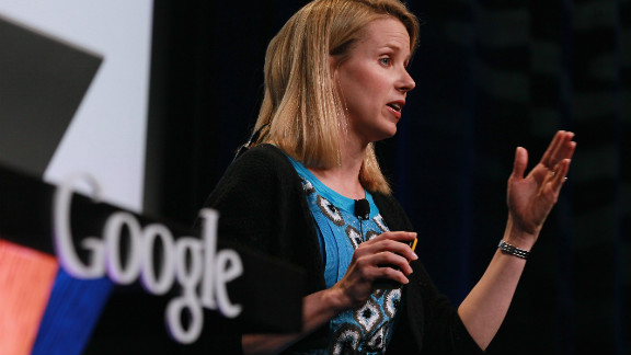 Mayer speaks during the announcement of the launch of Google Instant, a faster version of Google search, in  September 2010 in San Francisco, California.
