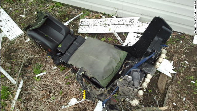Jet crash pilot's seat found in tree