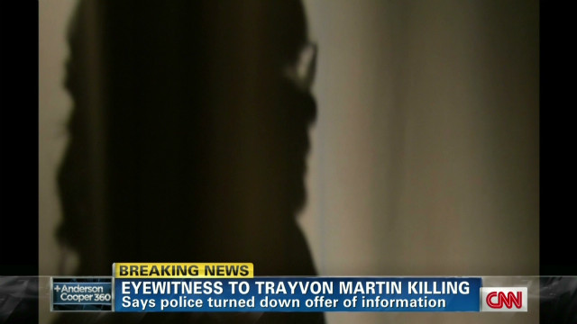 Witness to Martin shooting speaks out