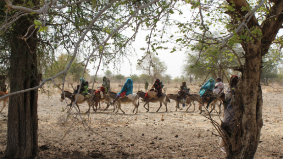 Arabic Nomads in Chad say that many have given up their lifestyle as the rains come less frequently and are unpredictable.