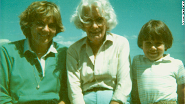 Adam Robb, right, on vacation with his mom and grandma in 1982. He now helps care for his 92-year-old grandma.