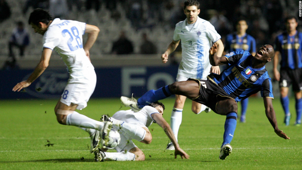 Balotelli became the youngest Inter player to score in the Champions League in November 2008 when he netted against Cyprus's Anorthosis Famagusta. He was 18 at the time.