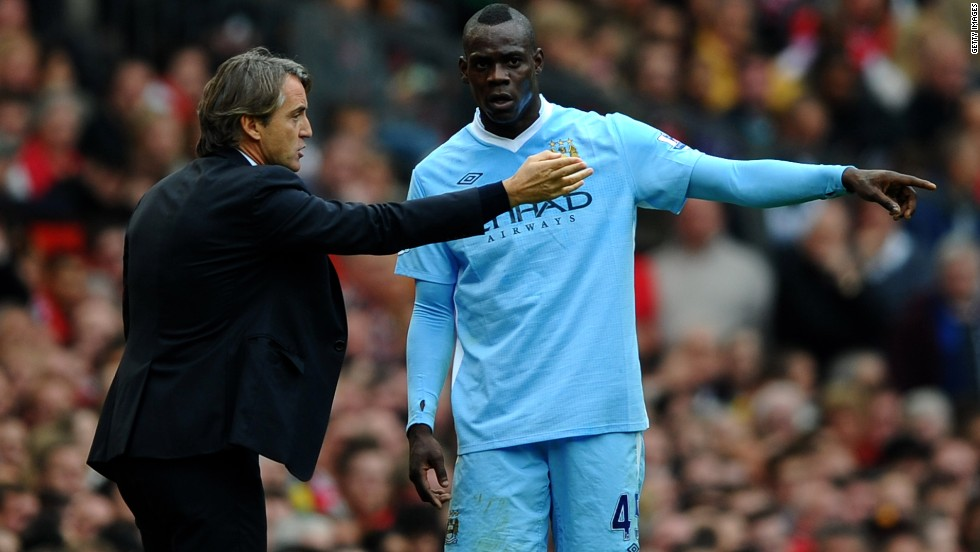 Mancini had numerous run-ins with Mario Balotelli, who left City to join AC Milan in the January transfer window, as well as Argentine Carlos Tevez.