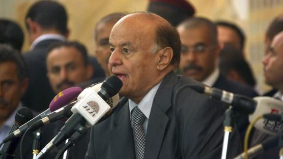 Yemeni president Abdu Rabu Mansour Hadi.