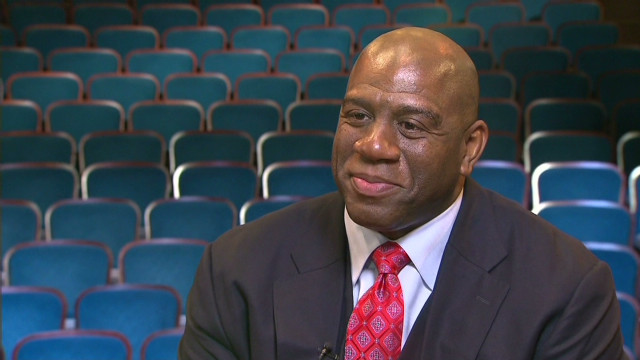 Magic Johnson, part of a group buying the Dodgers, says the sale will start a new chapter for the team.