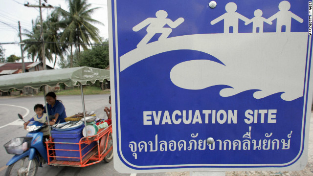A 9.1-magnitude quake triggered a tsunami which killed nearly 230,000 people in southeast Asia in December 2004.