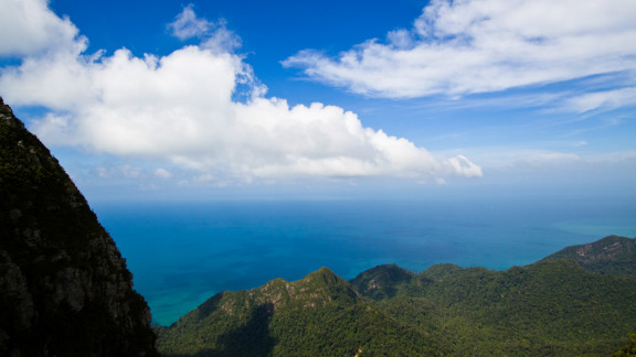A view from atop Gunung Mat Chinchang mountain in Langkawi Island in North Western Malaysia, as captured by photographer Jin Han.