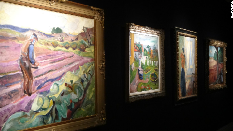Five other works by Norwegian artist Munch (1863 - 1944) are also on display at the auction house ahead of their sale in New York.