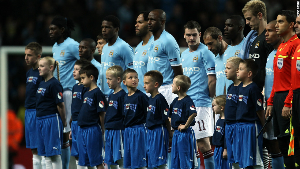 Manchester City took part in the campaign in 2009 when its players and mascots wore Unite Against Racism t-shirts for a home match against Polish club Lech Poznan.